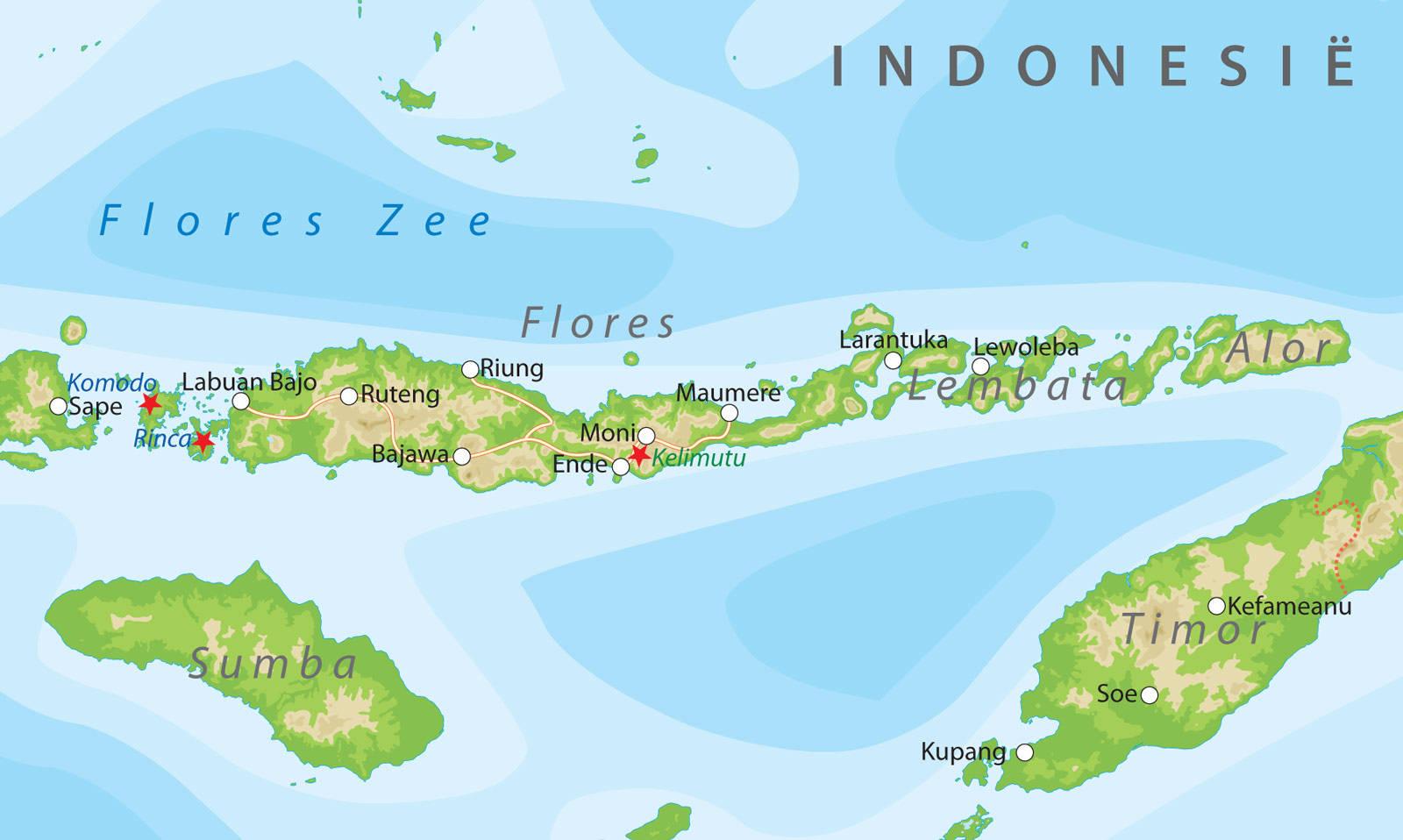 indonesië kaart Kaarten van Indonesie bij Van Verre Reizen
