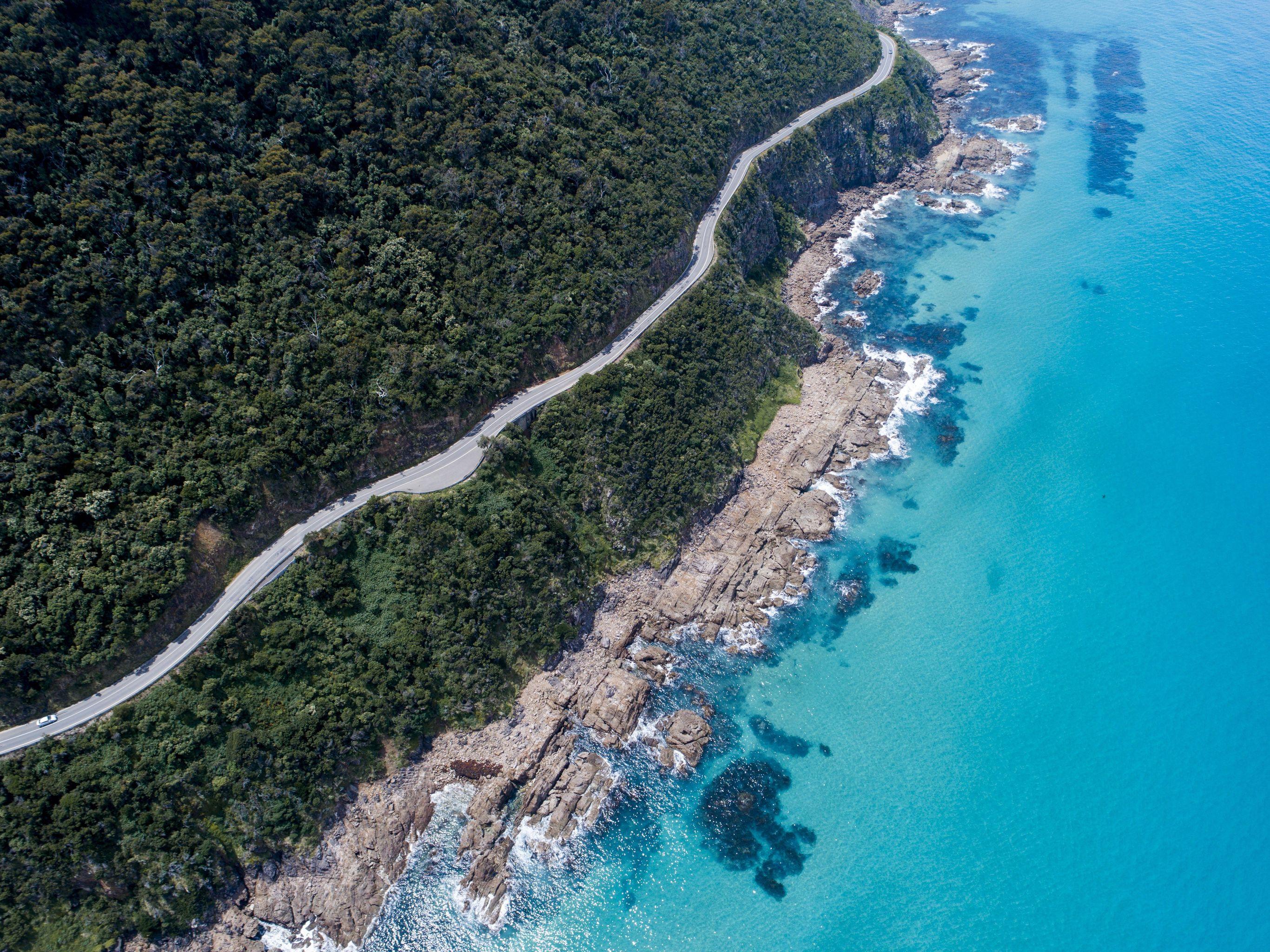 Australie-Great-Ocean-Road-autoweg Australië