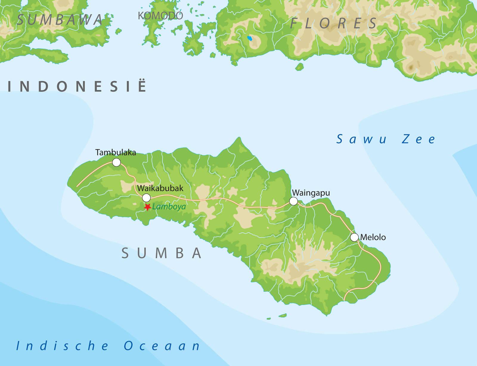 Kaarten van indonesie bij van verre reizen sumba en sumbawa altavistaventures Gallery