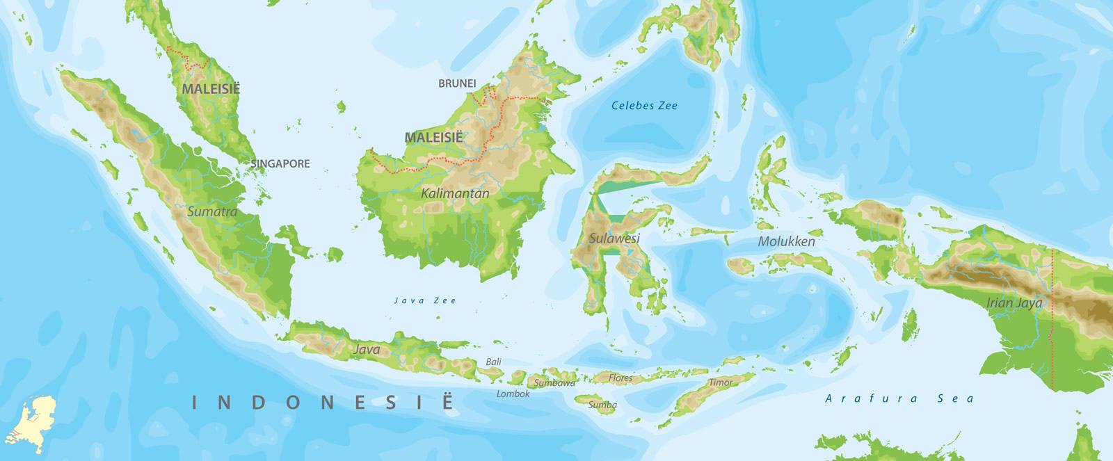 Kaarten van indonesie bij van verre reizen de kaart van indonesie altavistaventures Gallery