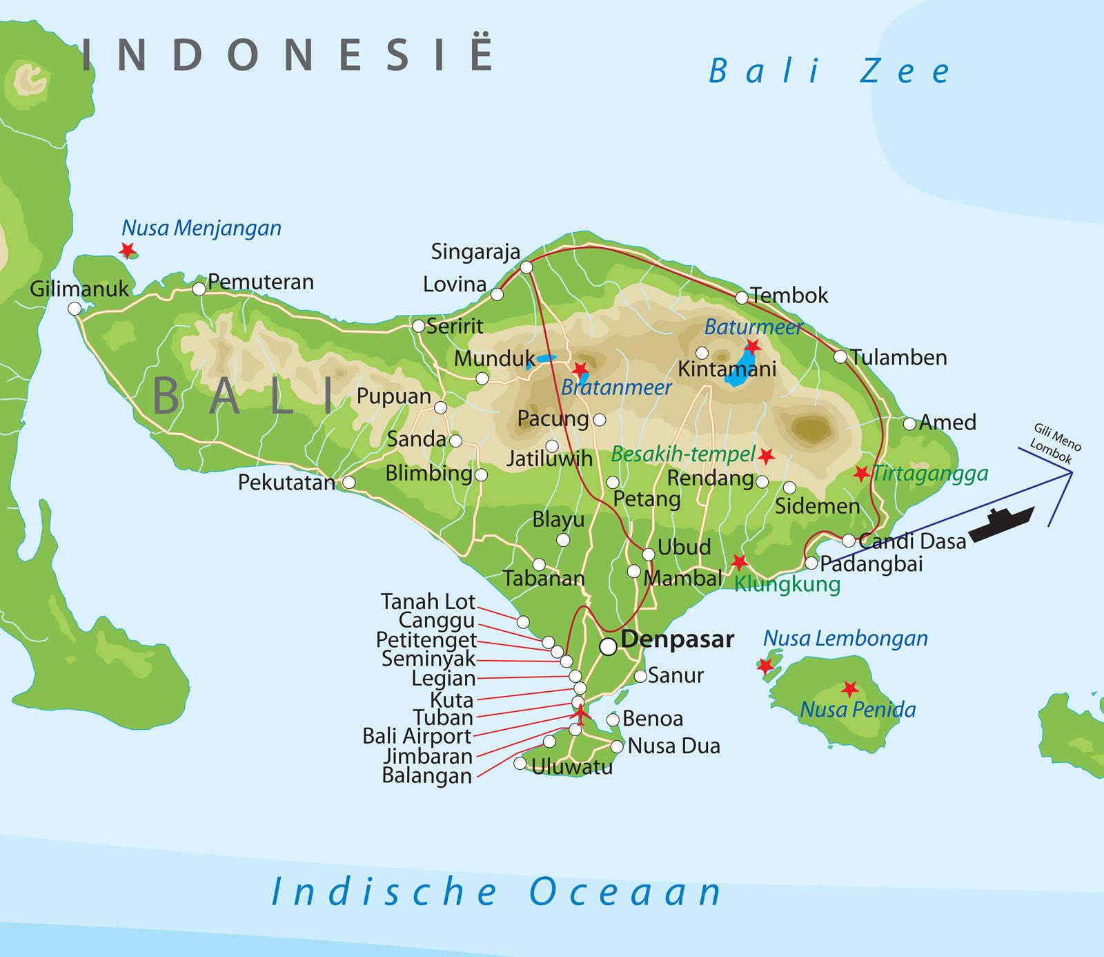 gili eilanden kaart Romantische rondreis over Bali en Gili bij Van Verre