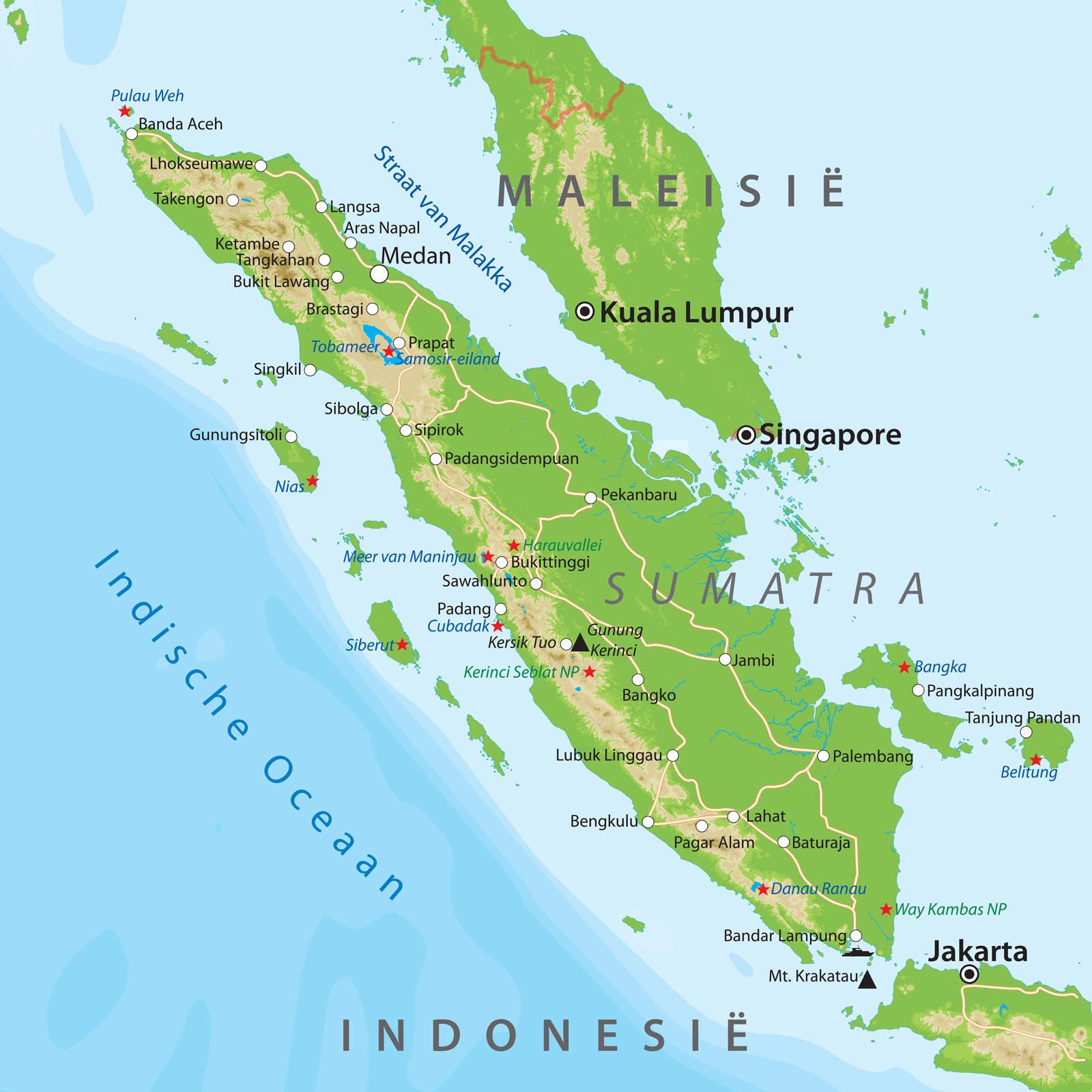 Kaarten van indonesie bij van verre reizen de kaart van sumatra altavistaventures Gallery
