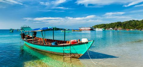 Bouwsteen Het strand van Cambodja