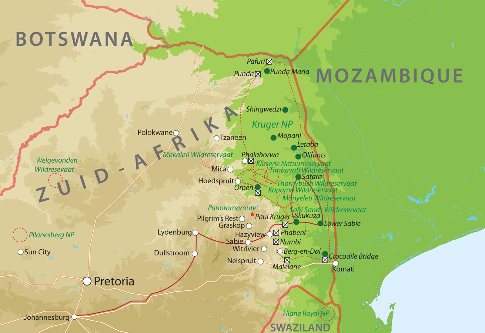 bouwsteen zuid afrika, mpumalanga en krugerpark bij van verreRondreis Krugerpark.htm #2
